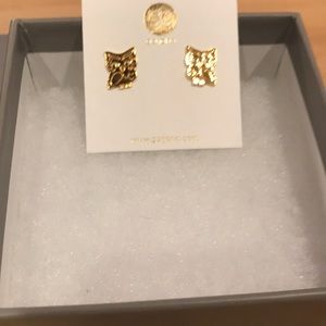 Gorjana Jewelry - NWT Gorjana Wise Owl gold stud earrings